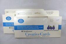 "(x2)10 Strathmore Palm Beach White Creative Cards/Envelopes 3-7/8"" x 9"": 105-152"