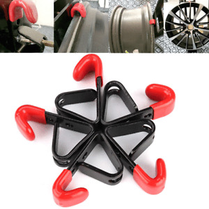 6pcs Tire Wheel Hub Hanger Hooks Wall Mounted Universal For Car Store Tyre Show