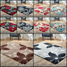 New Modern Floral Flowers Low Cost Price Rugs Soft Area Sale Red Grey Silver Rug