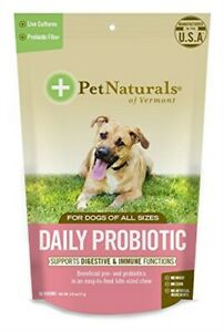 PET NATURALS OF VERMONT, DAILY PROBIOTIC CHEW,DOGS 60 CT