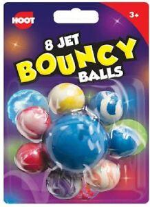 8 Pcs Super Bouncy Balls, Mixed Color Jet Bouncy Ball for Children, Kids Toys