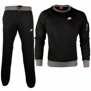 Nike Foundation Full Track Top Mens Brushed Fleece Sports Crew neck