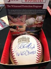 "Carl Edwards Jr. Signed 2016 World Series Baseball ""16 WS Champs"" JSA"