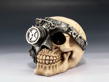 Steampunk Skull with Mask Figurine Statue Skeleton Halloween