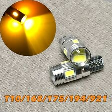 PARKING LIGHT T10 LED AMBER bulb No Canbus Error w5w 168 194 6 SMD for Toyota L