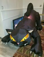 Gemmy Halloween Airblown Inflatable Scary Black Cat 6ft Head Moves Animated HTF