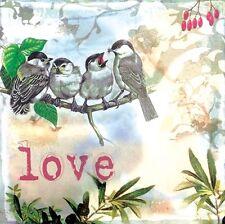 Famiglia di uccelli stampa della schermata Wall Art Canvas Camera da letto salotto