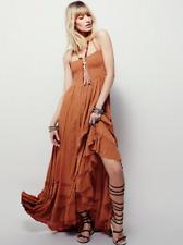 Low Strappy Back Strapless Beach Maxi Dress