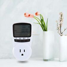 Digital LCD Energy Power Meter Socket Plug Voltage Current Monitor AC 120V White