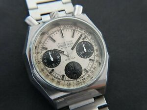 VTGE RARE CITIZEN 8110 BULLHEAD SPIDER PANDA CHRONOGRAPH. FULLY ORIGINAL 70s