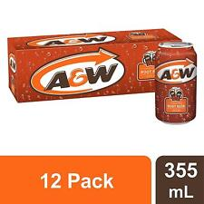 (Pack of 12) A&W Root Beer 355ml Cans - Imported