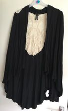 Brand New Ladies Primark Black Crochet Back Cardigan. Size 16
