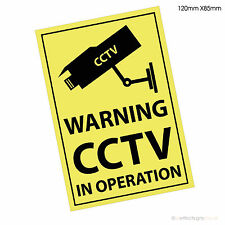 6 X Warning CCTV in Operation -Premises Security Window Printed Stickers Signs