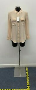(BOT) Equipment Femme French Nude Silk Blouse - Brand New with Tags - Size Small