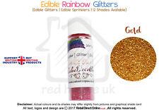 Rainbow Glitter | 100 % Edible | Cake Decorating Craft | 7 Grams | Gold Shade