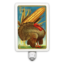 Thanksgiving Greetings Turkey With Corn Night Light