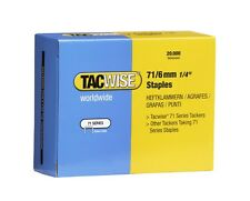 Tacwise Type 71/ 6mm Staple - (Box of 20000)