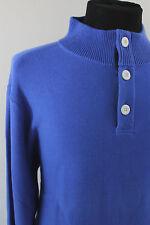 NEW Vineyard Vines Blue Button Neck Long Sleeve 100% Cotton Sweater Large L $145