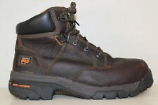 "Timberland PRO Mens Helix 6"" Alloy Toe Waterproof Work Boots Sz 11.5 M Brown"