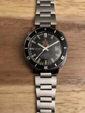 Automatic Seiko 7005 8140 Iranian Royal Army Diver Steel Watch