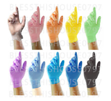 DISPOSABLE NITRILE, LATEX FREE & POWDER FREE GLOVES - LOTS OF COLOURS + FREE DEL
