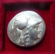 PAMPHYLIA, SIDE  AR Tetradrachm 200-100 BC. Athena Nike Helios countermark VF+