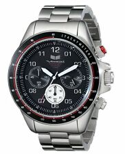 2014 NIB MENS VESTAL ZR-2 CHRONOGRAPH STAINLESS STEEL WATCH $280 silver black
