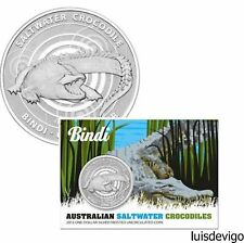 2013 $1 Silver Frosted Uncirculated Coin Australian Saltwater Crocodiles - Bindi
