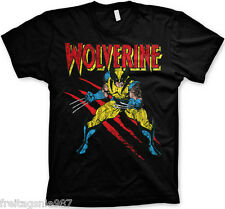 MARVEL WOLVERINE Scratches  T-Shirt  camiseta cotton officially licensed