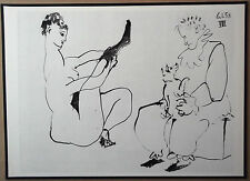 PABLO PICASSO 1954 ENGRAVING w/COA. exclusive, UNIQUE sexy GIFT of VERY RARE ART
