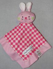 Baby Ganz Wheatberries Pink Bunny Rabbit Security Blanket Argyle Lovey