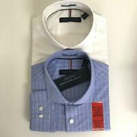 Tommy Hilfiger Men's Regular Fit Spread Collar Long Sleeve Dress Shirt
