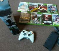 BLACK XBOX 360 ARCADE CONSOLE - call of duty and game bundle-  60GB