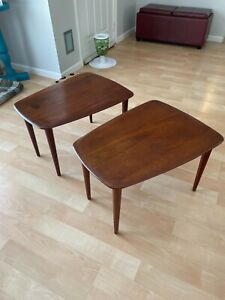 peter hvidt (france and sons) teak side tables scandinavian mid century modern