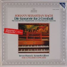 BACH: Concertos Two Harpsichords SEALED Acrhiv DGG Digital Pinnock Gilbert LP