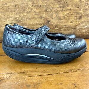 Abeo Rocs Bethan Mary Jane Rocker Shoe Size 7 Pewter Leather Toning