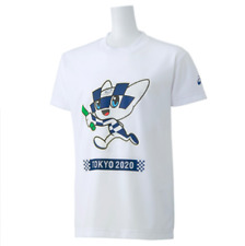 Tokyo 2020 Olympic Games Official T-Shirt for Kids Miraitowa Asics White 150