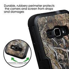 FOR SAMSUNG Galaxy J1 2016 PHONE BLACK VINE DESIGN HYBRID TUFF SKIN COVER CASE