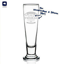Leonardo Beer Glass Pils With Personalised Engraving Gift Idea