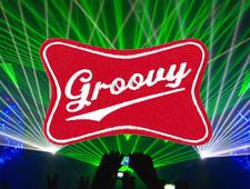 Cool Vintage Style Rave Club Techno DJ Groovy Shirt Patch Badge 7cm Surfer Rock