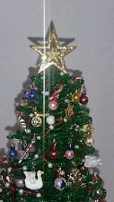 Westrim Beaded Miniature Christmas / Dollhouse Tree *Gold Star Tree Topper*