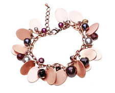 NEW CELEB BEAUTIFUL BOHO STYLE COPPER CHAIN AND MIX COLOUR BEADS BRACELET(ZX50)
