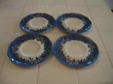 Set Of 4 J&G Meakin Romantic England Anne Hathaway's Cottage Blue Coffee Saucer