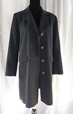 Jaqueline Ferrar Petite Small Black Jacket Trench Over Coat Lined