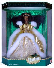BARBIE - Poupée Happy Holidays 1994 AFRO brune Mattel Special Edition neuve Misb