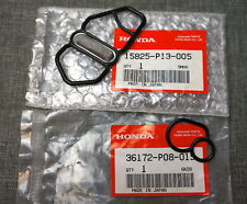 GENUINE Honda Prelude VTEC Solenoid Spool Valve Upper & Lower Gasket Seal OEM