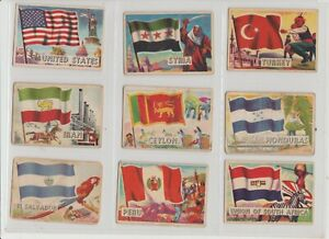 Flags of the World A&BC Gum SMALLER size Issued in 1963 Full set of 80 cards