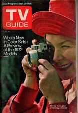 1971 TV Guide September 25 Shirley MacLaine; Cher models clothes; Richard Boone