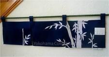 "33.5 x 9.75"" Indigo Noren Curtain Tapestry 3-Panel Sushi Bar Bamboo/Made Japan"