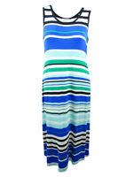 Calvin Klein Women's Plus Size Striped Maxi Dress